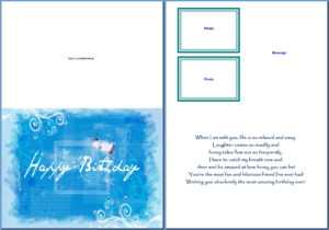 19 Birthday Card Templates For Word Images – Free Birthday inside Free Blank Greeting Card Templates For Word