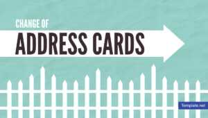 19+ Change Of Address Card Designs & Templates – Psd, Ai pertaining to Moving Home Cards Template