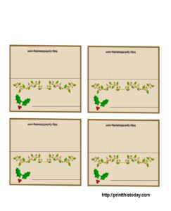 19 Elegant & Fun Printable Place Cards | Kittybabylove in Christmas Table Place Cards Template