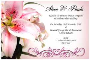 19 Wedding Invitation Cards Templates Designs Images pertaining to Sample Wedding Invitation Cards Templates
