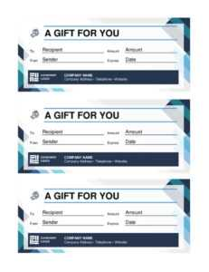 20 Best Free Business Gift Certificate Templates (Ms Word intended for Gift Certificate Template Indesign