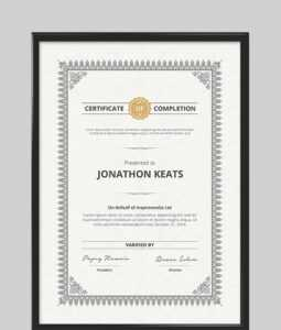 20 Best Word Certificate Template Designs To Award in Certificate Of Participation Template Doc