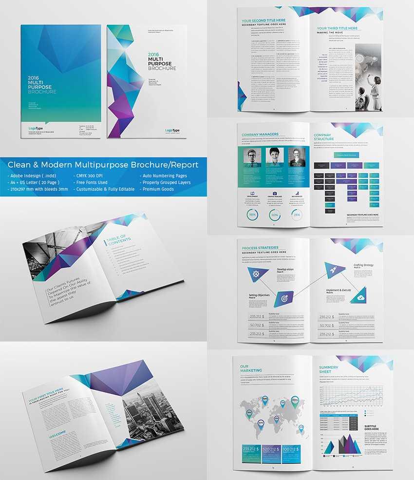 20 Кращих Шаблонів Indesign Brochure - Для Творчого With Regard To Adobe Indesign Brochure Templates