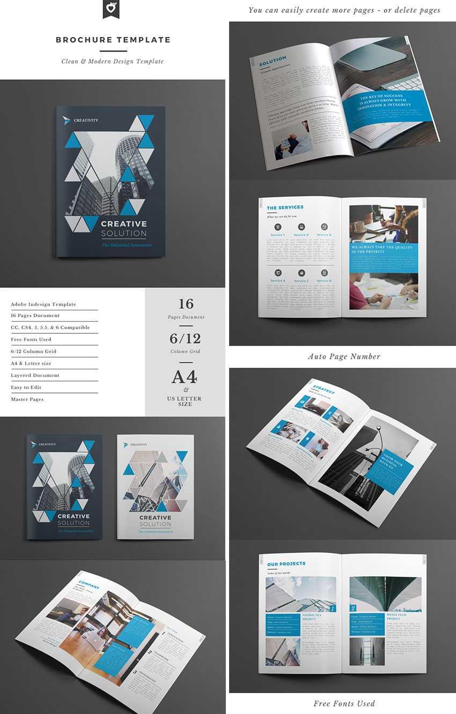 20 Лучших Шаблонов Indesign Brochure - Для Творческого Regarding Brochure Templates Free Download Indesign