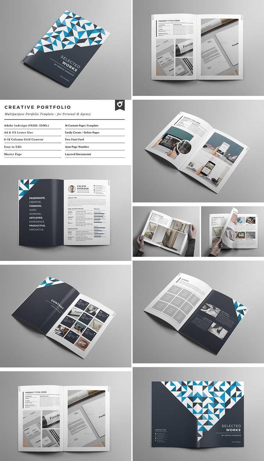 20 Лучших Шаблонов Indesign Brochure - Для Творческого Throughout Brochure Templates Free Download Indesign