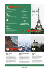 20+ Профессиональных Шаблонов Буклетов С Двумя Фальцами in Word Travel Brochure Template