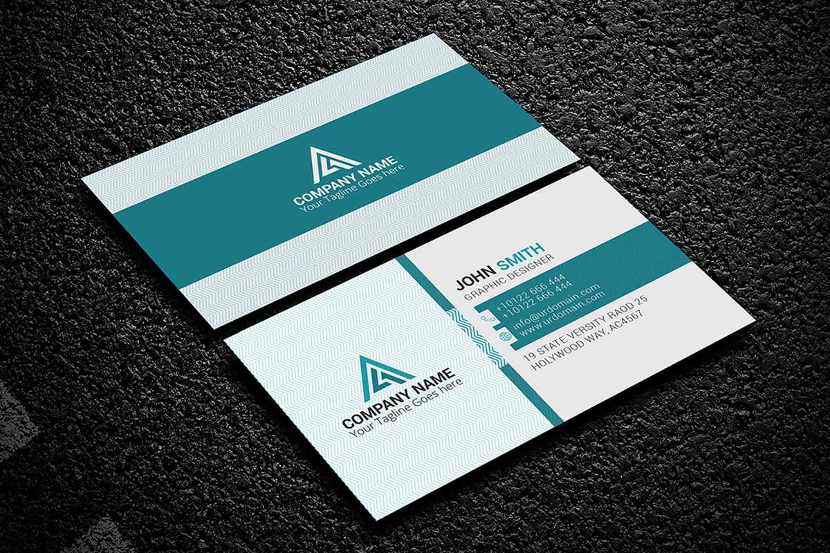 200 Free Business Cards Psd Templates - Creativetacos Throughout Psd Name Card Template