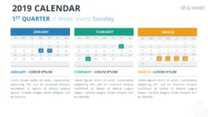 2019 Calendar Powerpoint Templates with regard to Microsoft Powerpoint Calendar Template