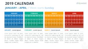 2019 Calendar Powerpoint Templates within Microsoft Powerpoint Calendar Template