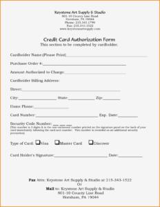 23+ Credit Card Authorization Form Template Pdf Fillable 2020!! regarding Corporate Credit Card Agreement Template