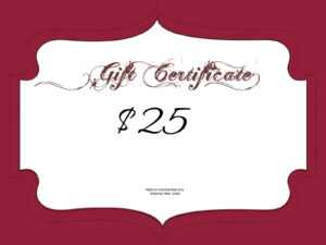 $25 Gift Certificate Template | Certificatetemplategift inside Mary Kay Gift Certificate Template