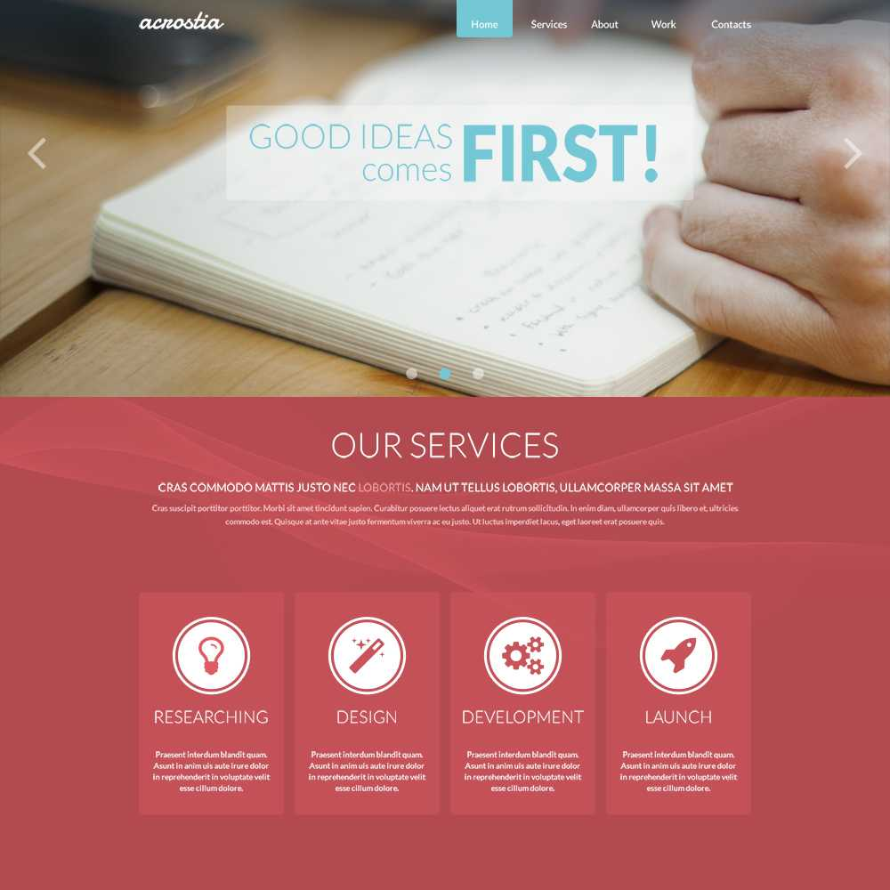 28 Free One Page Psd Web Templates In 2019 - Colorlib Regarding Single Page Brochure Templates Psd
