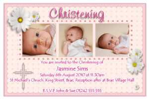 28+ [ Template For Christening Invitation Card ] | Baptism intended for Free Christening Invitation Cards Templates