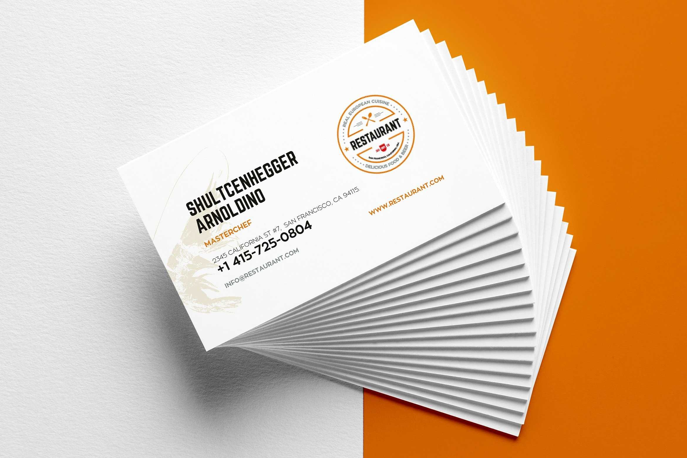 29+ Creative Restaurant Business Card Templates - Ai, Apple Intended For Microsoft Office Business Card Template