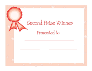 2Nd Prize Winner Certificate Powerpoint Template Designed pertaining to Award Certificate Template Powerpoint