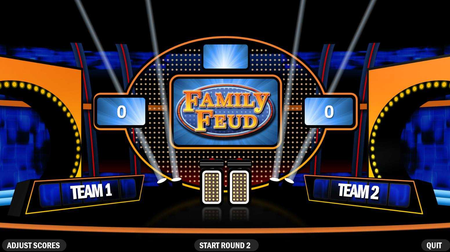 3 Best Free Family Feud Powerpoint Templates Within Family Feud Game Template Powerpoint Free