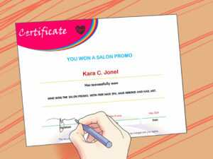 3 Ways To Make A Certificate – Wikihow intended for Running Certificates Templates Free