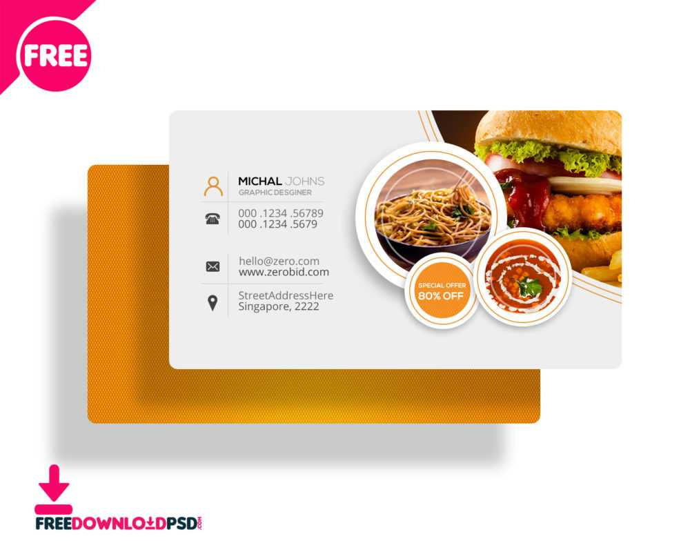 30+ Delicate Restaurant Business Card Templates   Decolore Within Restaurant Business Cards Templates Free