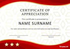 30 Free Certificate Of Appreciation Templates And Letters for Certificate Of Excellence Template Word
