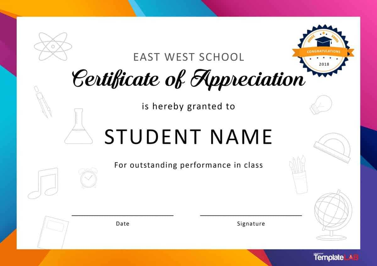 30 Free Certificate Of Appreciation Templates And Letters Pertaining To Felicitation Certificate Template
