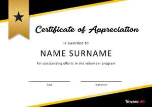 30 Free Certificate Of Appreciation Templates And Letters regarding Pageant Certificate Template
