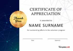 30 Free Certificate Of Appreciation Templates And Letters throughout Formal Certificate Of Appreciation Template