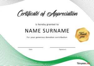 30 Free Certificate Of Appreciation Templates And Letters with regard to Formal Certificate Of Appreciation Template