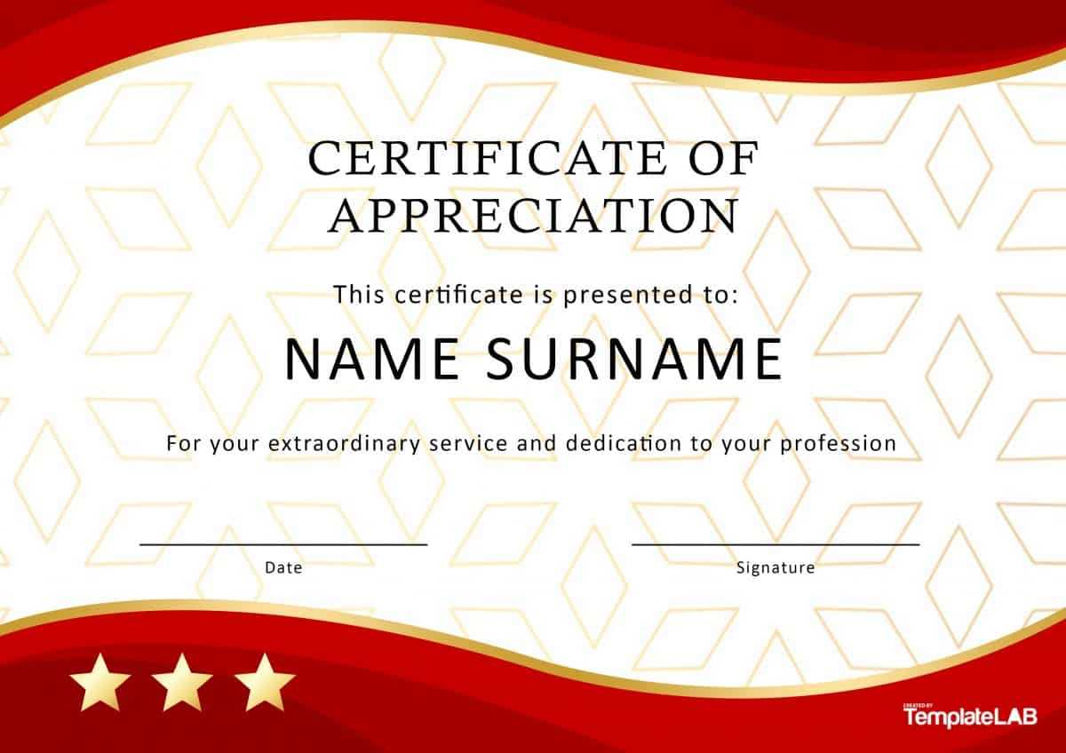 30 Free Certificate Of Appreciation Templates And Letters With Regard To Long Service Certificate Template Sample