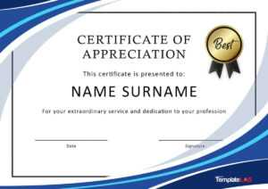 30 Free Certificate Of Appreciation Templates And Letters with regard to Volunteer Of The Year Certificate Template