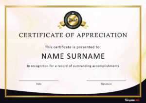 30 Free Certificate Of Appreciation Templates And Letters within Free Certificate Of Excellence Template
