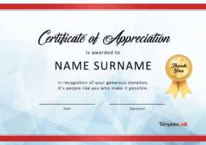 30 Free Certificate Of Appreciation Templates And Letters within Volunteer Of The Year Certificate Template
