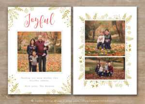 30 Holiday Card Templates For Photographers To Use This Year for Christmas Photo Card Templates Photoshop