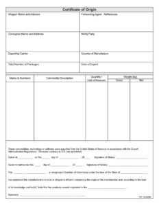 30 Printable Certificate Of Origin Templates (100% Free) ᐅ regarding Certificate Of Origin Form Template