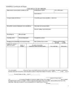 30 Printable Certificate Of Origin Templates (100% Free) ᐅ throughout Nafta Certificate Template