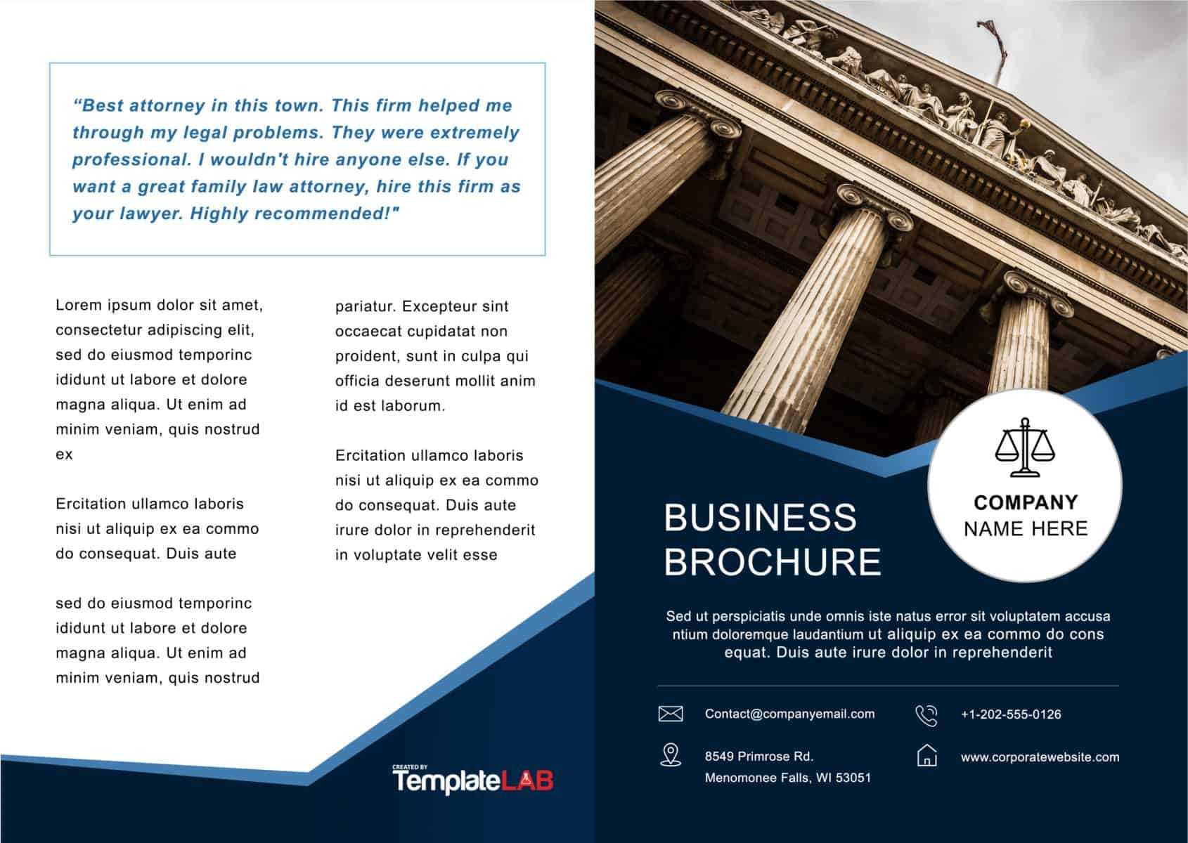 33 Free Brochure Templates (Word + Pdf) ᐅ Templatelab For Microsoft Word Brochure Template Free