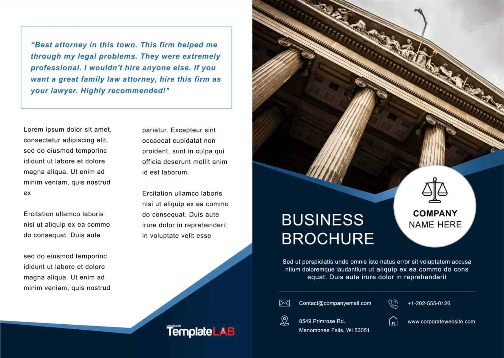 33 Free Brochure Templates (Word + Pdf) ᐅ Templatelab Throughout One Page Brochure Template