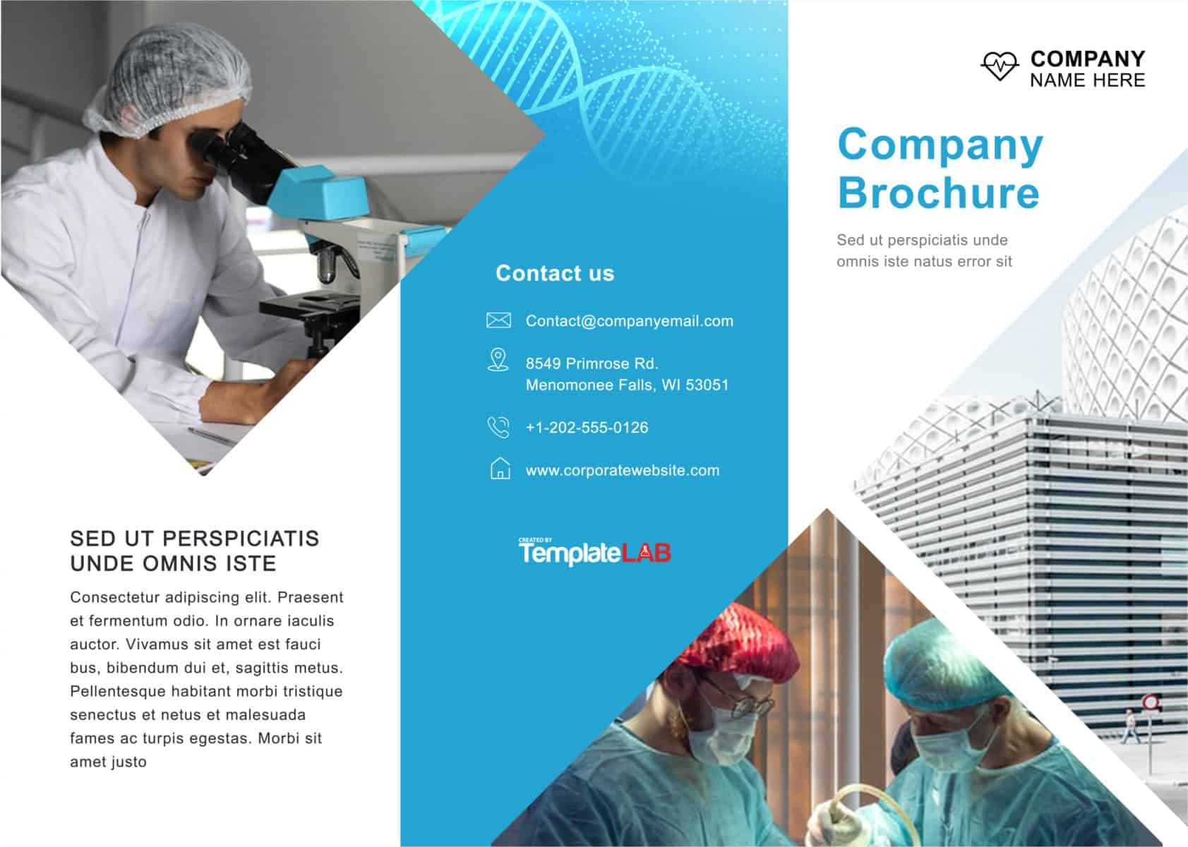 33 Free Brochure Templates (Word + Pdf) ᐅ Templatelab With Engineering Brochure Templates Free Download
