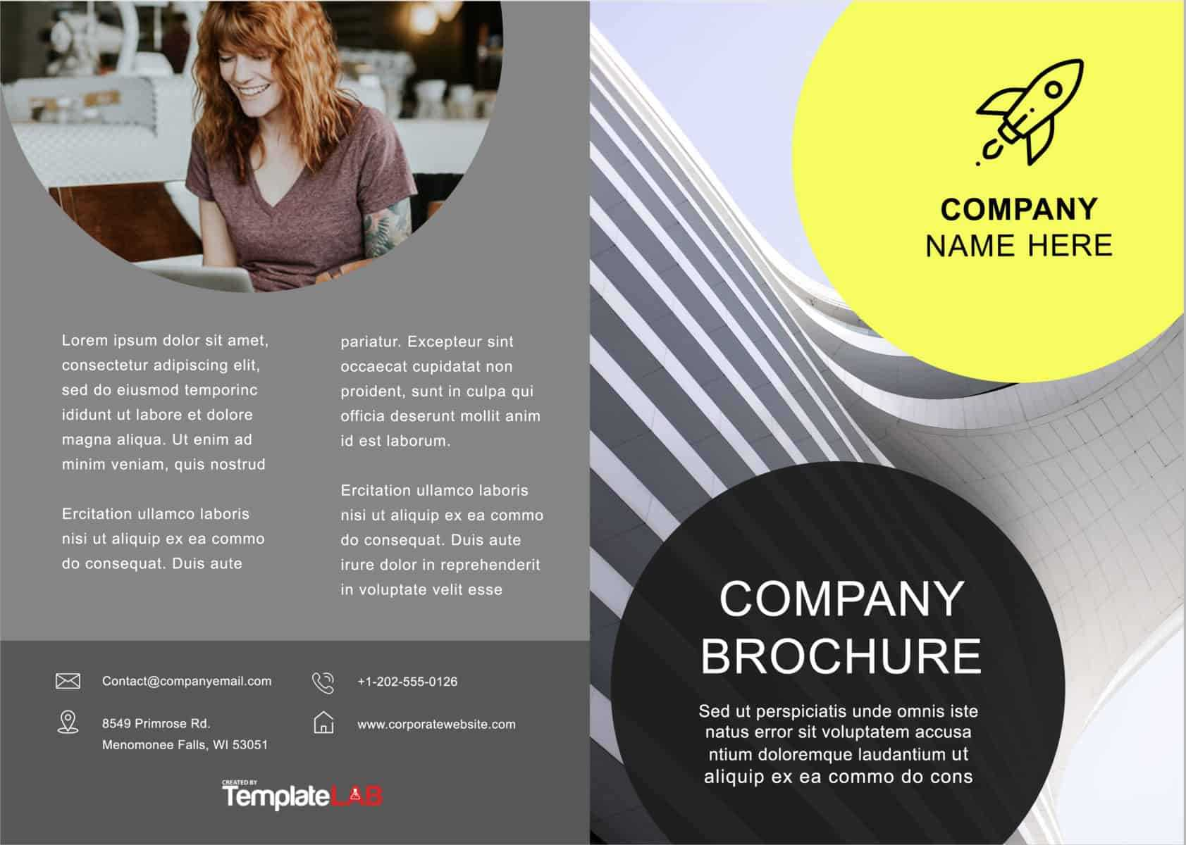 33 Free Brochure Templates (Word + Pdf) ᐅ Templatelab Within 4 Fold Brochure Template Word