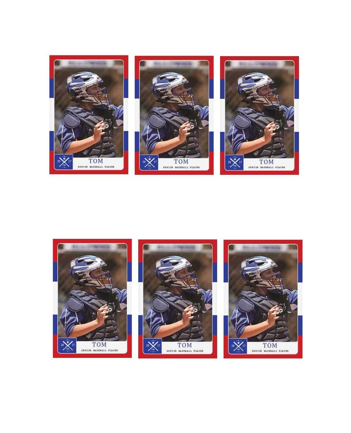 33 Free Trading Card Templates (Baseball, Football, Etc For Baseball Card Template Microsoft Word