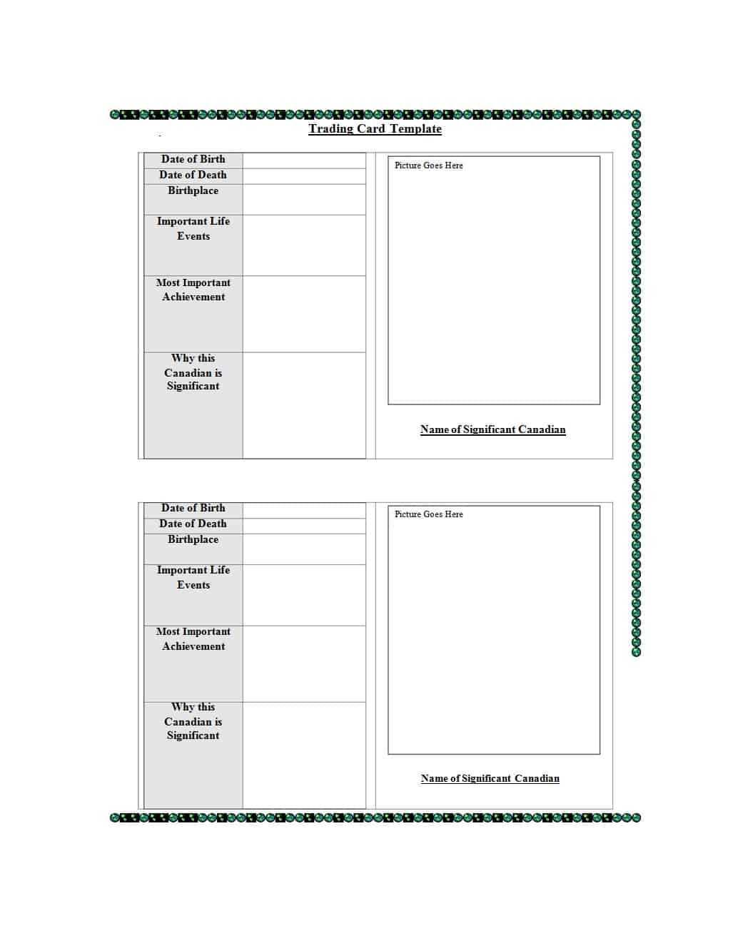 33 Free Trading Card Templates (Baseball, Football, Etc For Free Trading Card Template Download