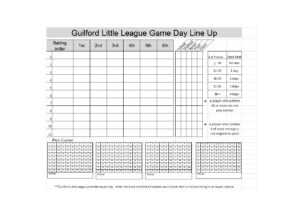 33 Printable Baseball Lineup Templates [Free Download] ᐅ in Dugout Lineup Card Template