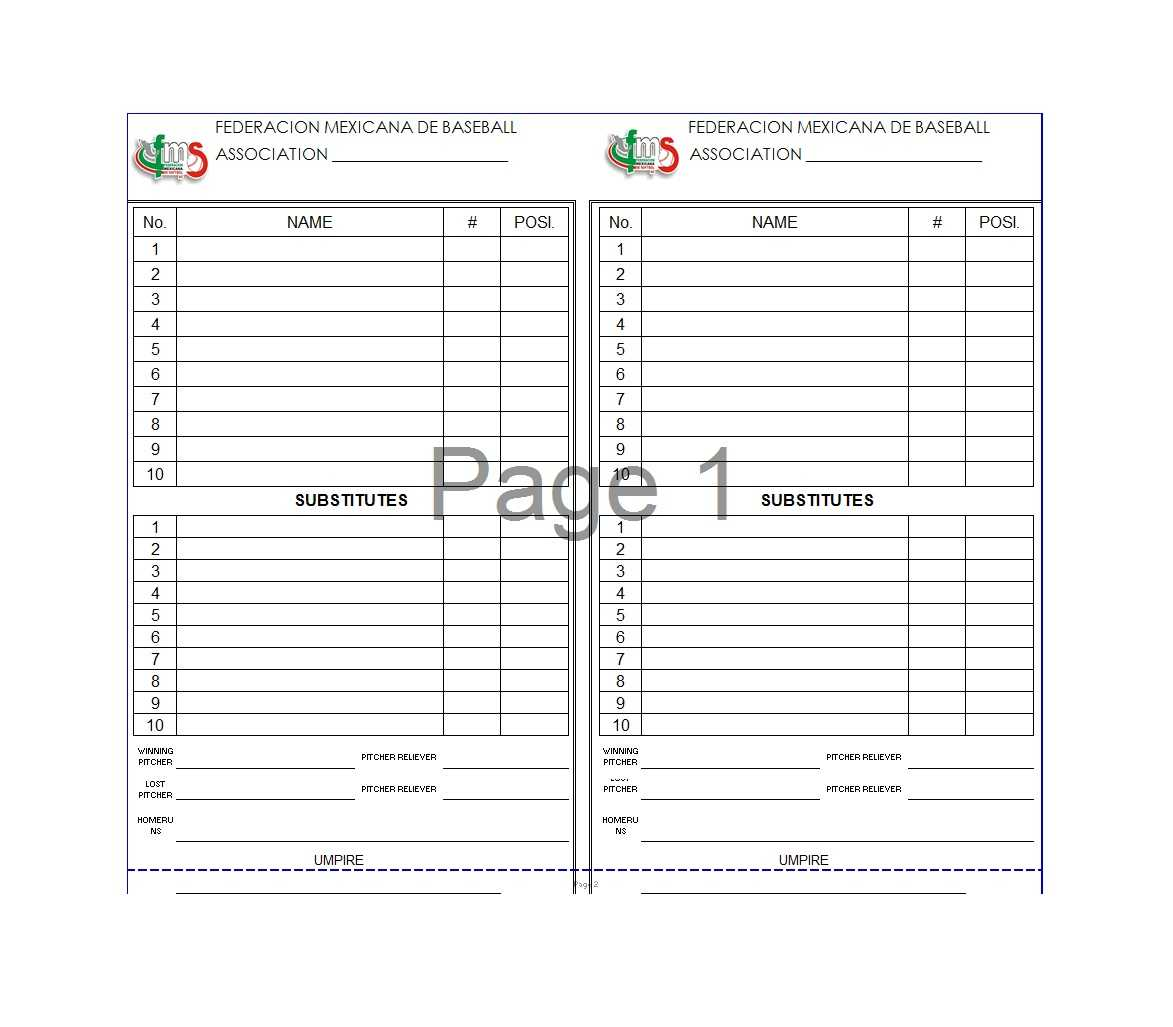 33 Printable Baseball Lineup Templates [Free Download] ᐅ With Regard To Baseball Lineup Card Template