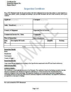 34 Certification Of Inspection Free Pdf Doc Download intended for Certificate Of Inspection Template