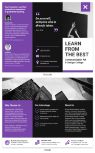 35+ Creative Brochure Ideas, Examples & Templates – Venngage for Brochure Templates For School Project