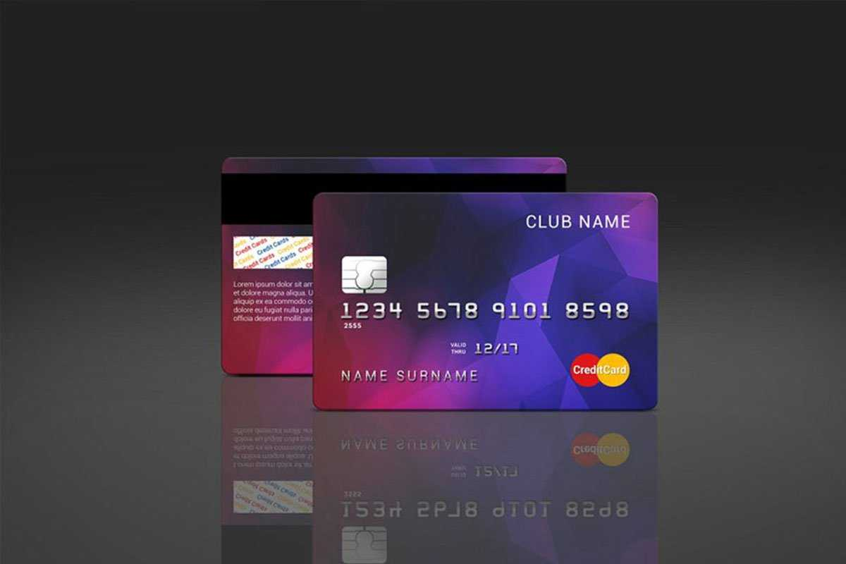 35 Free And Premium Credit Card Mockups - Colorlib In Credit Card Templates For Sale
