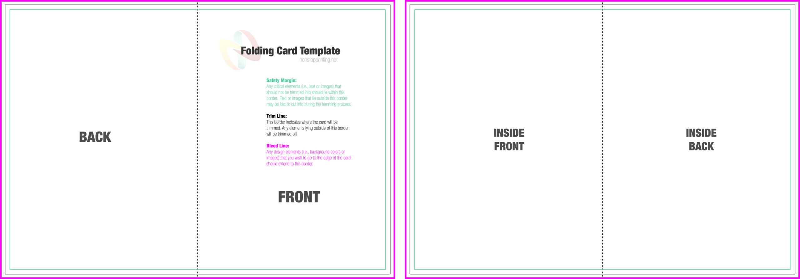 39 Online Folding Card Template For Word Now With Folding Intended For Foldable Card Template Word