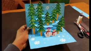 3D Christmas Pop Up Card   How To Make A 3D Pop Up Christmas Greeting Card  Diy Tutorial regarding 3D Christmas Tree Card Template