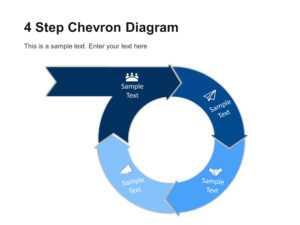 4 Step Circular Chevron Diagram Template   Chevron with Powerpoint Chevron Template