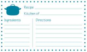 4 X 6 Recipe Card Template ] – Recipe Card Template For Word within 4X6 Photo Card Template Free