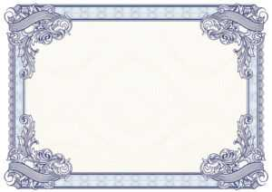 40+ Beautiful Certificate Border Templates & Designs with Award Certificate Border Template